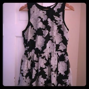 black/white floral mini dress from Piperlime